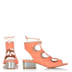 TOPSHOP Daily Ghillie Tan Tie Up Sandals